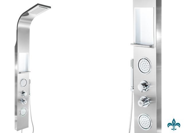 Ablage F?r Dusche Edelstahl : Edelstahl Duschpaneel mit Ablage Regendusche Duschs?ule Dusche