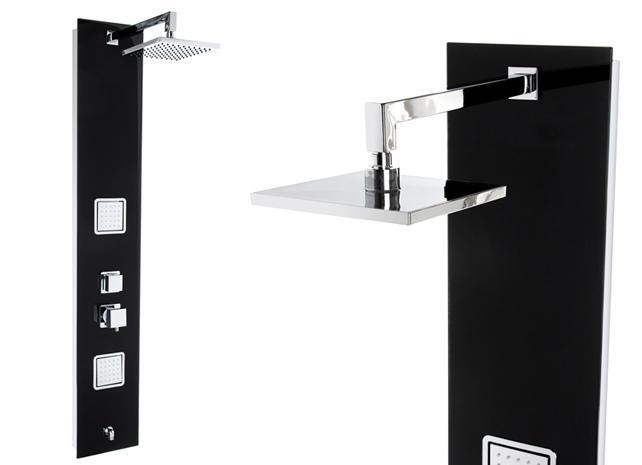 Steinkirch schwarzes glas duschpaneel multi funktionen for Schwarzes glas